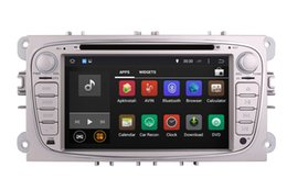 Wholesale Ford Focus Console - Android 4.4 Car DVD Player GPS Navigation for Ford Focus Mondeo S-Max with Radio Bluetooth Map USB SD AUX Video Sat Nav