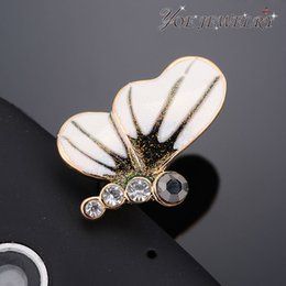 Wholesale Headphone Jewelry Plug - Wholesale-Wholesale Fashion headphone dust plug Gold Plated Enamel Butterfly Delicate Dust Plug For mobile phone Jewelry Min Order $10