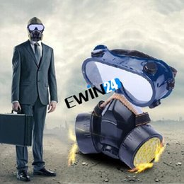 Wholesale Industrial Paint Masks - New Respirator Gas Mask Filter Goggles Paint Chemical Industrial Safety Anti Dust Good Quality Hot Sale