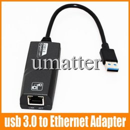 Wholesale Ethernet Rj45 Connector Usb - VK-RTL8153 USB 3.0 to Fast Ethernet LAN RJ45 Network Cable card Adapter 28cm 10Mbps or 100Mbps Network For MAC For Win7 For Laptop 1pcs