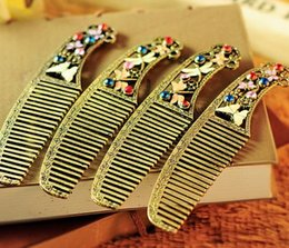 Wholesale Dragonfly Comb - butterfly finishing dragonfly hair comb makeup partition comb hair tools palace stenciling Comb Hair Care Combs Professional Hairdressing