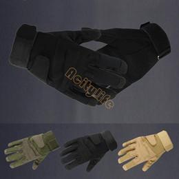 motos de carreras guantes taichi Rebajas Guantes tácticos de alta calidad de la motocicleta Ejército Dedo completo Airsoft guantes tácticos de combate 18