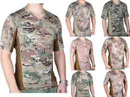 Wholesale Emerson Shirts - Wholesale-EMERSON Skin Tight Base Layer Camo Running Shirts Breathable perspiration Tshirt EM9167
