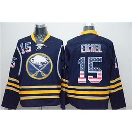 Wholesale National Names - Sabres #15 Jack Eichel 2016 National Flag Edition Hockey Jersey Fashion Men's Uniforms Dark Blue Buffalo Hockey Jerseys Stitched Names