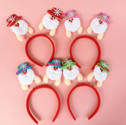 Wholesale Free Ribbon Crafts - Christmas head hoop clasp hair band head band Christmas crafts head hoop party decoration free shipping CH01004
