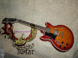 Wholesale Vintage Guitar Left Handed - Wholesale and retail 2015 Custom Shop 12 Strings Sunburst Jazz Guitar Vintage Left Handed Electric Guitar Free Shipping