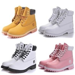 Wholesale pony leather - Authentic Brand Motorcycle Boots Men Casual 6-Inch Premium Boots Women Waterproof outdoor 10061 Wheat Nubuck boots size 36-47