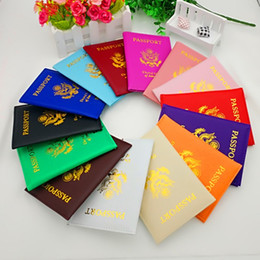Wholesale America Covers - PU Passport Protective Cover Universal Square ID Card Case United States Of America Passports Covers Hot Sale 2 8kf B