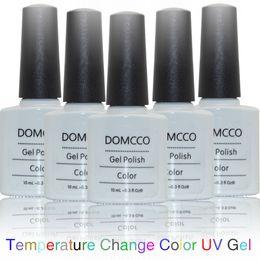 Uv color change prego on-line-6 PÇS / LOTE Alta Qualidade Soak Off mudança de temperatura cor uv gel Unha Polonês