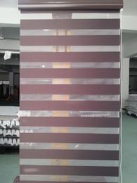 Tende scure online-Tende Zebra traslucide al 100% in poliestere per tende da soggiorno per caffè scure 30 colori disponibili
