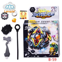 Wholesale Mini Top Hot - Lensple Hot Sale Beyblade Burst Starter Zeno Excalibur beyblade toy spin tops With Launcher And Retail Box Gifts For Kids 2017
