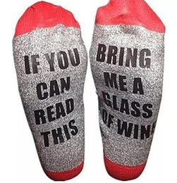 Wholesale beer socks - 18 styles letter socks compression socks IF YOU CAN READ THIS Bring Me a Glass of Wine Beer happy socks for big children men women B11