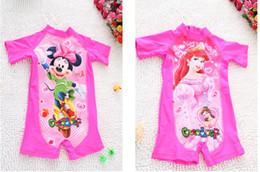 Wholesale Child Girls Wear Swimsuit - Girls Minnie Mouse Cartoon One-piece Swimsuit Kids Mouses Carton Swimwear Children Pink Beach Wear 10 p l