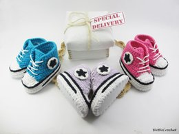 Wholesale Crochet Baby Shoes Free - Free shipping!Knitted Baby Crochet Sneakers,Newborn Crochet sports Shoes,soft toddler shoes Booties,unisex star walking shoes.9pairs 18pcs