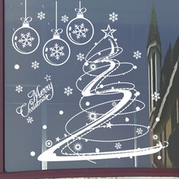 Wholesale pvc marketing - M001 Merry Christmas Removable Snow Ball Wall Sticker Decal Home Window Decor Wall Stickers For Kids Room Nursery Market Mural