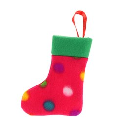 Wholesale Christmas Presents Ornaments - 5PCS Lovely Christmas Decoration Supply Xmas Hanging Stockings Ornaments to put Presents & Candies Christmas Supply