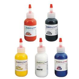 Wholesale Tattoo Ink Sets 2oz - Wholesale- 5pcs lot Permanent makeup pigment mix colors tattoo ink set tattoo pigment kit 60ml bottle 2OZ