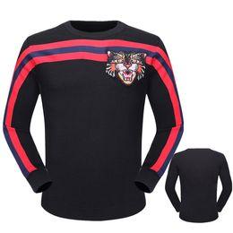 Wholesale Comfortable Cotton Hoodies - Brand sweatshirt Men's hoodie 2017 new letter printing round neck fashion comfortable cotton casual men's sweater striped shirt M-XXXL