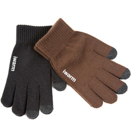 Wholesale Touchscreen Tablets Wholesale - Luxury Original iwarm Anti-skid Capacity Screen Gloves Warm Winter Driving Gloves Touchscreen For ipad iPhone Samsung HUAWEI Tablet OTH694