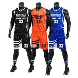 Без рукавов трикотажные изделия футбола онлайн-Подгонянное имя номера логотипа атлетический взрослый футбол Джерси короткие брюки мужчины рукавов баскетбол трикотажные изделия бег трусцой одежда на открытом воздухе одежда