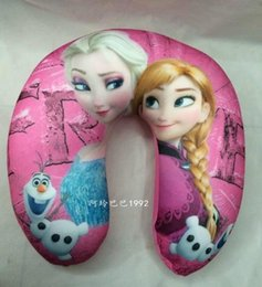 Wholesale Minions Neck Pillow - Frozen U-shape Neck Pillow and Cushion big hero 6 minions neck Cartoon Plush Pillow elsa anna Cartoon Travel Relax Pillow 4 styles