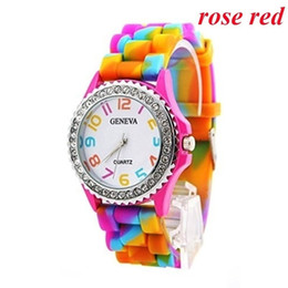 Wholesale Children Candy Bracelet Watch - New Fashion Candy Color Kids Children Watch Gifts