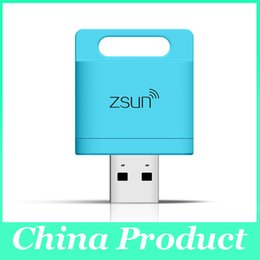 Wholesale External Flash For Tablet - Zsun WiFi Smart Card Reader TF MicroSD USB 2.0 Flash Drive for PC Tablet Phone iOS Android Support to 2T Black 010073