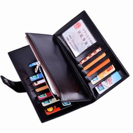 Wholesale Korean Couple Wallet - Hot New Oil Wax Lmulticolor Multi-card Bit Long Wallet Men Women Couples thin For People To Use