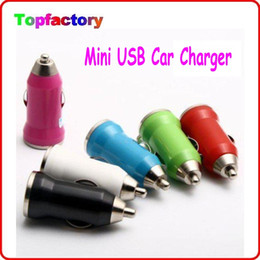 Wholesale E Car Charger - Mini USB Car Charger Adapter Universal for Various kinds of Electronic Products Coloful Car charger USB Charger for e cigs Charger DHL Free