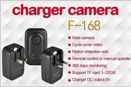 Wholesale F Recorder - 4GB AC Adapter Plug Hidden Camera US EU Wall Charger Digital Video Recorder F-168 Motion Detection DVR Adapter
