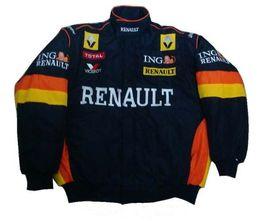 Wholesale Renault Man - Embroidery LOGO FIA NASCAR IndyCar V8 Supercar Racing Jacket Renault F1 Racing Team Cotton Jacket A090-1