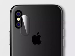 Wholesale Glass Lens Cover - For iphone X Camera Lens Protective Protector Cover Soft Fiber Tempered Glass For iphone 8 8PLUS 7 7 PLUS