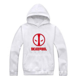 Wholesale Men S Sweaters Skull - Deadpool hedging hoodie sweater deadpool reversal future X-men Wolverine sweatshirt black white gray