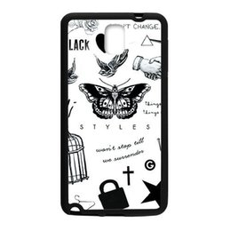 Wholesale Cool 1d - Harry Styles 1D Tattoo Cool for Samsu cover case for samsung s5 note2 n7100 note3 n900 for samsung note4 hard plastic cell phone case