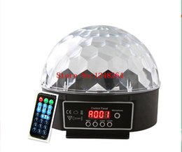 Wholesale Magic Crystal Ball Led Remote - Mini+Remote control 18W LED Stage Light RGB Crystal Magic Ball Effect light DMX 512 Control Pannel Disco DJ Party Stage Lighting
