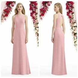 Wholesale Cheap After Six Dresses - Long Satin After Six Bridesmaid Dresses Cheap Modest Fashion Formal Dress Custom Made Party Prom Gowns Cheap Modest New Arrive HOt Sale