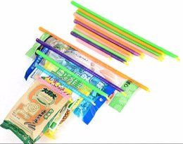 Wholesale great rod - 2017 Hot Magic Bag Sealer Stick Unique Sealing Rods Great Helper For Food Storage Bag Sealing clips sealing clamp