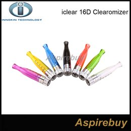 Wholesale Electronic Cigarette Rebuildable - Original Innokin iClear 16D Atomize Clearomizer Electronic Cigarette iclear 16 D 2.1ohm Rebuildable Dual Coil For iTaste CLK VV V3.0