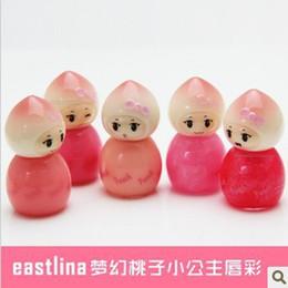 Wholesale Doll Lips Gloss - Wholesale-Eastlina Dream Princess Peach Lip Gloss 4ml seven princess mini doll   nude color   genuine