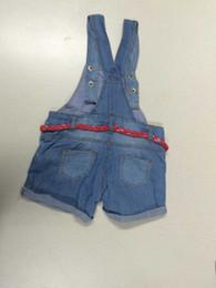 Wholesale Winter Jeans Suspender Pants - New Summer Children Fashion Suspender Trouser Light Blue Denim Girls Pants Kids Clothes Jeans Suspender Trouser Hot Seller