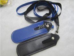 эго клипы Скидка Высокое качество эго ремешок ожерелье строка с PU кожаный чехол карман нейлона шеи слинг веревку corner сумка для ecig батареи