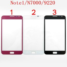 Wholesale Digitizer For Galaxy Note - For Samsung Galaxy Note N7000 I9220 Front Outer Glass Lens Screen Digitizer Touch Panel Screen Cover