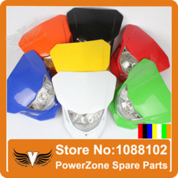 Wholesale Street Fighter Motorcycle Head Light - Motorcycle Dirt Bike Head Light Lamp Street Ghost Fighter Fit KAYO IRBIS ABM Pit Pro CRF YZF Free Shiping