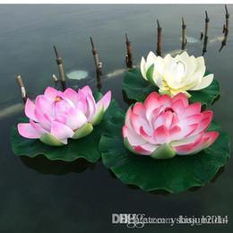 tapete de boxwood falso Desconto Decorações de casamento de 60 cm de diâmetro Artificial Lotus flor de seda falso para enfeite de natal Fish Tank jardim piscina de água decoração