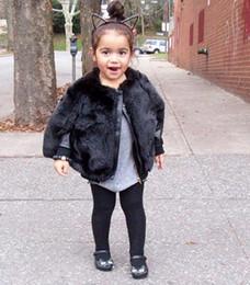 Wholesale Outwear Cloak Cape - Ins Girls Poncho Coats Celebrity Star Clothes Winter Kids Black Faux Fur Poncho Outwear Clothing Children Cloak Cape Outer Coats Surcoats