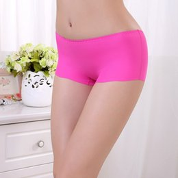 Wholesale Invisible Shorts - Women Lady New Seamless Invisible Lingerie Briefs Soft Underwear Panties Anti-exposure Fashion Free Shipping