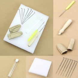 Wholesale Wool Felting - F85 Free Shipping 1set Needle Felting Starter Kit Wool Felt Tools Mat + Needle + Accessories Craft