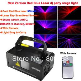 Wholesale Disco Smoke - new G&B Cyan 300mW DMX512 Laser Stage Lighting Scanner effect light Smoke DJ Disco Party Xmas Lights Show Remote Digital DMX D76