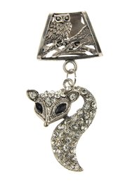 Wholesale Diamond Necklace Pendant Designs Silver - WISHCART Factory Direct Charms Sale Diamond Fox Pendant Scarves 2015 New Stock Design Jewelry Scarf Necklace Diy Charm Accessories Zh0066