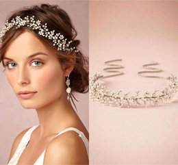 Wholesale Image Accessories - 2015 Real Image In Stock Sparkly Princess Bridal Headpiece Pearl Beaded Bridal Headbands Wedding Bridal Hair Accessories CPA154